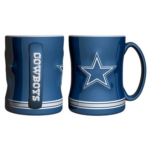 10fe74c39 NFL Boelter Brands 2 Pack Relief Mug 15 Oz - Dallas Cowboys   Target