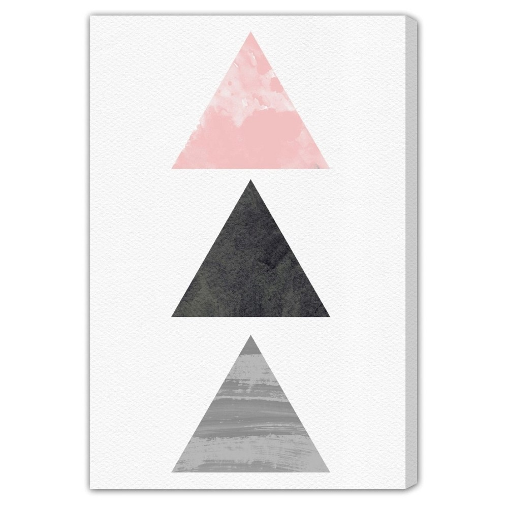 """Image of """"Oliver Gal Unframed Wall """"""""Harmony"""""""" Canvas Art (24x16), Pink Gray Black"""""""