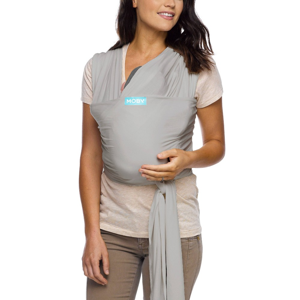 Image of Moby Classic Wrap Baby Carrier - Stone Gray, Grey Gray