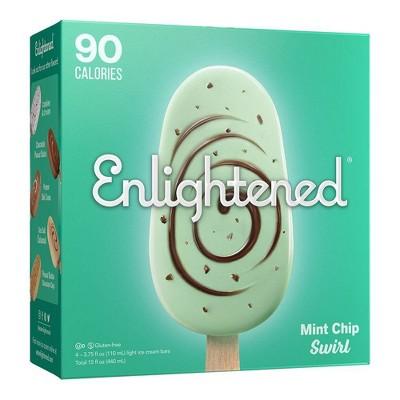 Enlightened Mint Chip Swirl Ice Cream Bars - 4pk