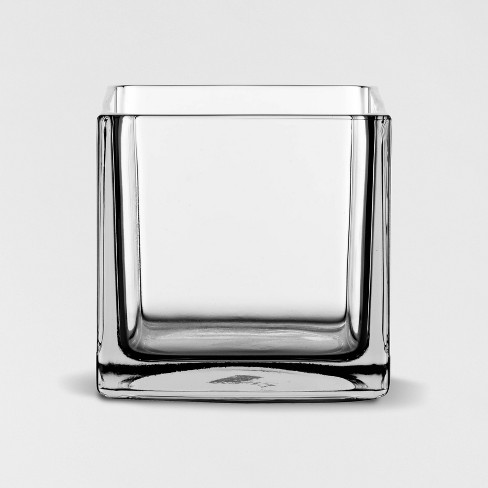 "6"" x 6"" Decorative Square Glass Vase Clear - Threshold™ - image 1 of 4"