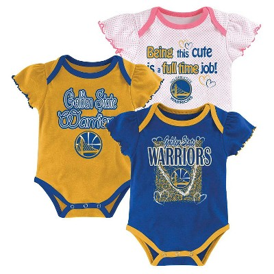 reputable site 00540 a7a85 Golden State Warriors Girls Infant Body Suit 3-6 M