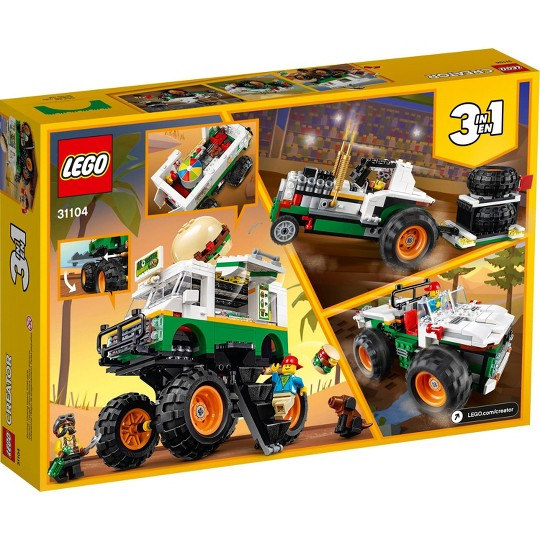 LEGO Creator 3-in-1 Monster Burger Truck Building Kit 31104 image number null