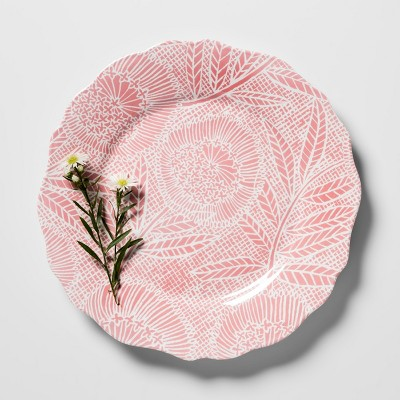 Melamine Salad Plate 8.4  Pink Floral - Opalhouse™