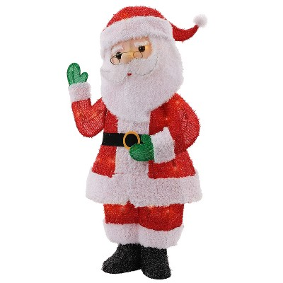 Christmas Incandescent Glitter Fabric Santa - Wondershop™