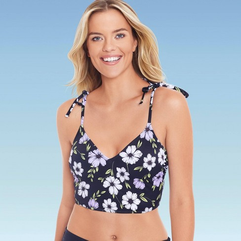 Women's Slimming Control Tie Shoulder Crop Bikini Top - Beach Betty by Miracle Brands - image 1 of 4
