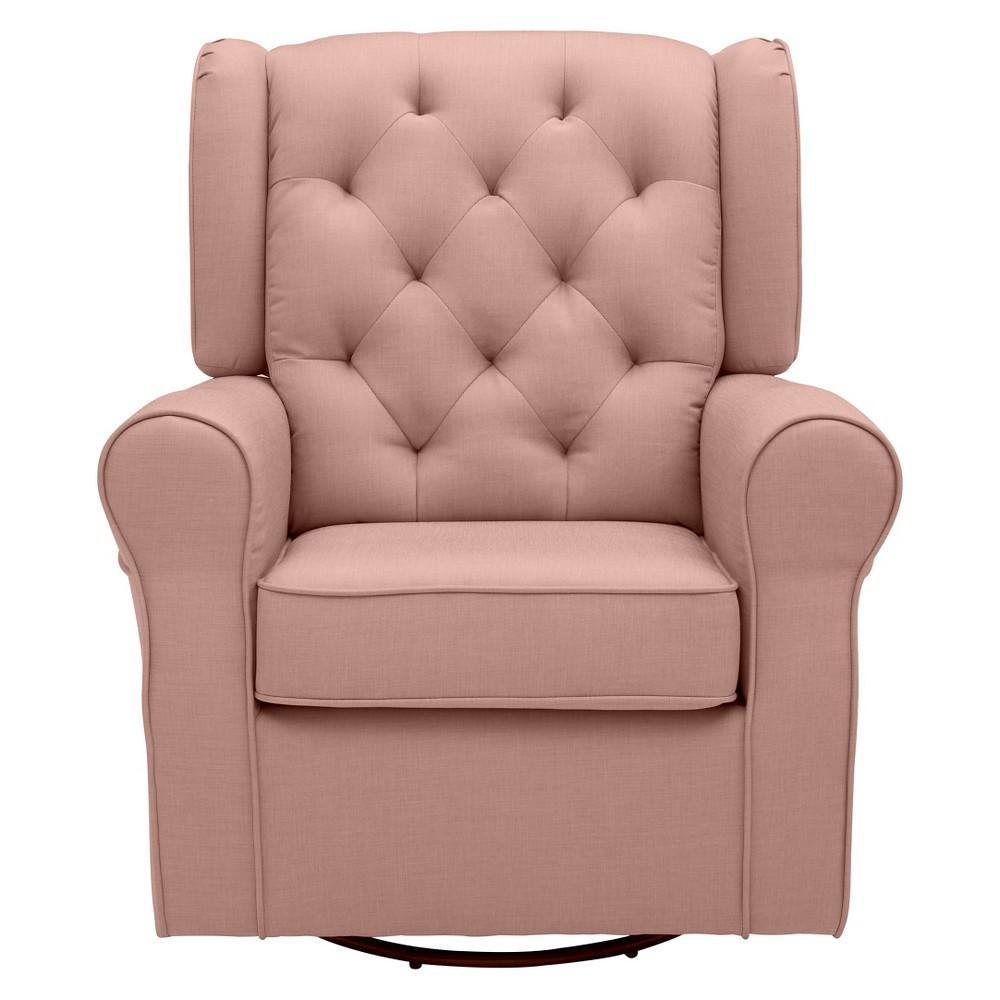 Delta Children Emma Nursery Glider Swivel Rocker Chair - Blush