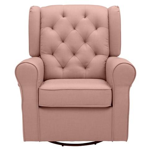 Delta Children Emma Nursery Glider Swivel Rocker Chair Blush
