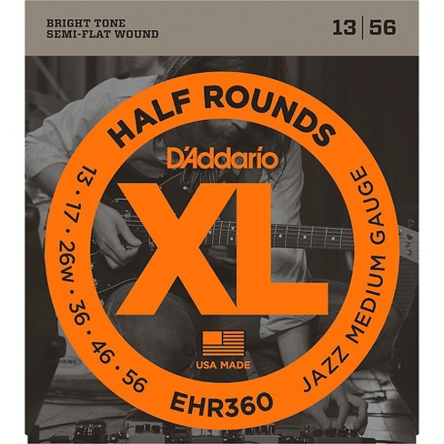 D'Addario EHR360 Half Round Jazz Medium Electric Guitar Strings - image 1 of 1
