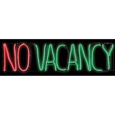 No Vacancy Halloween Silhouette Lights