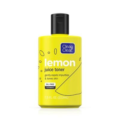 Facial Toner & Astringent: Clean & Clear Lemon Juice Toner