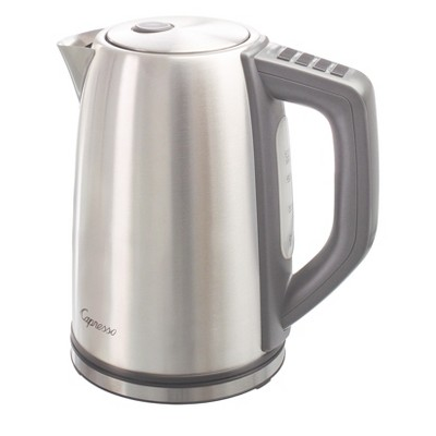 Capresso 4 Temperature Electric Water Kettle H2O Steel PLUS - Stainless Steel 278.05