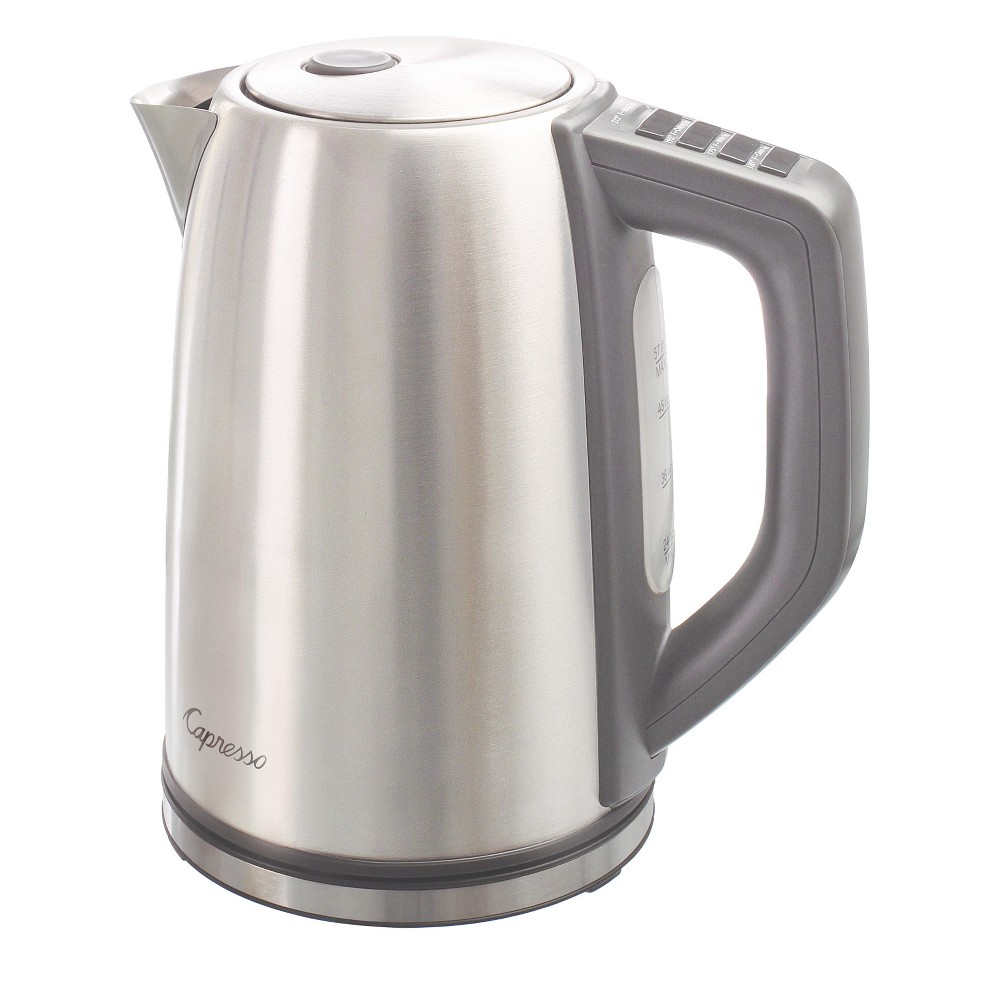 Capresso H2O Steel Plus Electric Water Kettle Stainless Steel 278.05, Silver 52112847