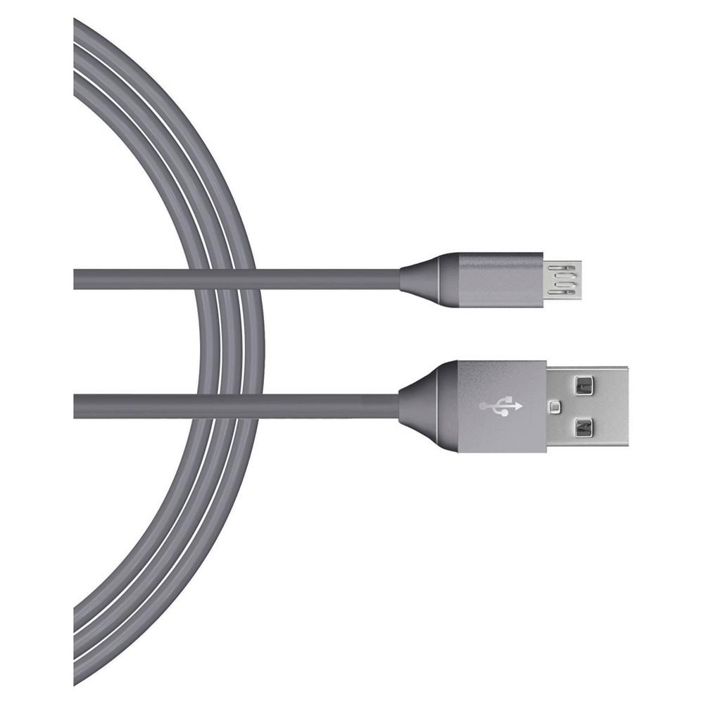 Micro Usb 6 Charging Cable Metallic Dark Gray