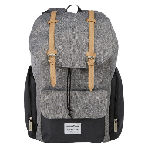 Ed Bauer Backpack Diaper Bag Gray