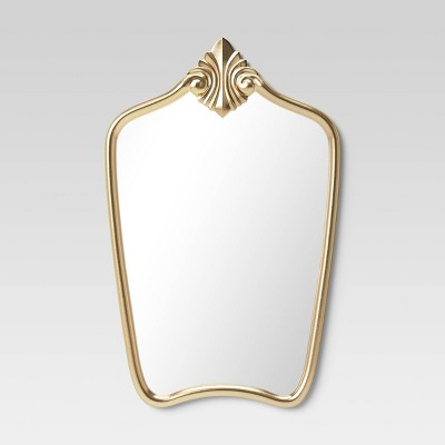 Gilded Decorative Wall Mirror Brass - Opalhouse™