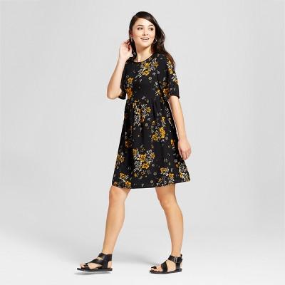 Short Sleeve Babydoll Dress