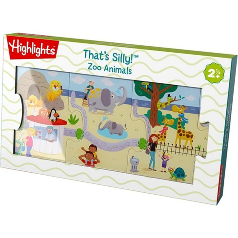 HABA Highlights That's Silly! Zoo Animals 9 Piece Floor Puzzle - image 1 of 4