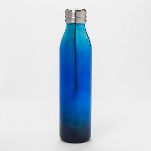 20oz Venti Air Transfer Stainless Steel Portable Water Bottle Black/Blue Ombre - Room Essentials™ - image 1 of 1
