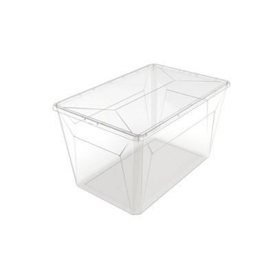 Ezy Storage 50L/52.8qt Karton Clear Storage Box