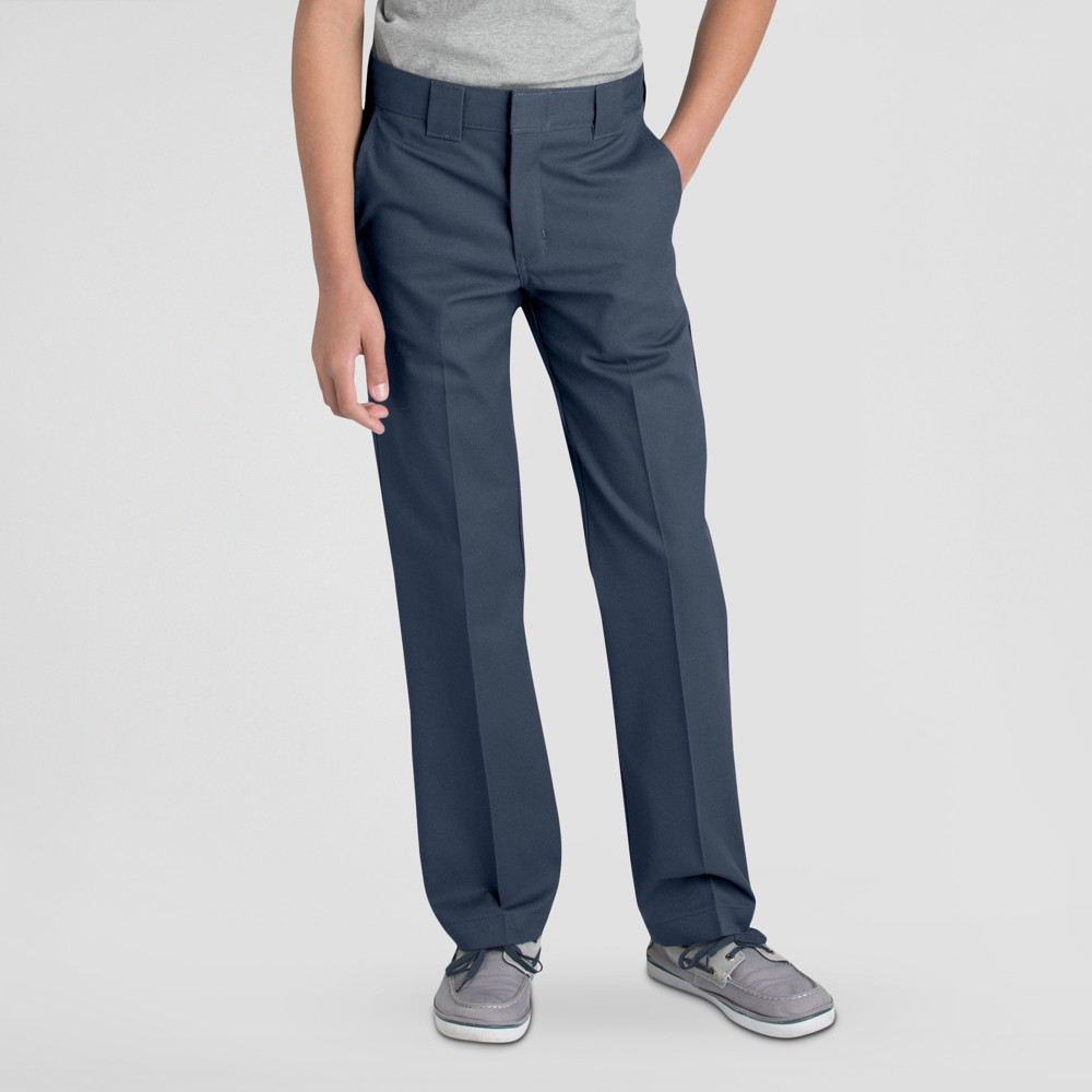 Dickies Boys' Slim Straight Pants - Dark Navy (Blue) 6