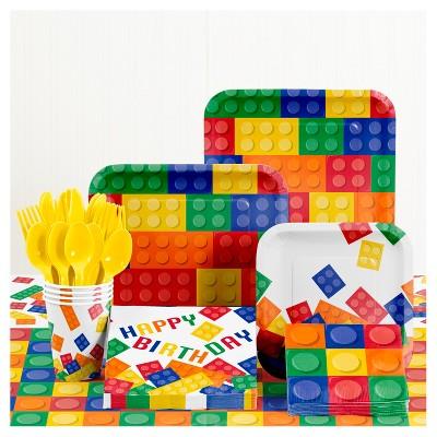 Building Blocks Birthday Party Supplies Kit