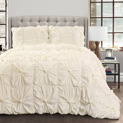 King Bella Comforter Set Ivory - Lush Décor