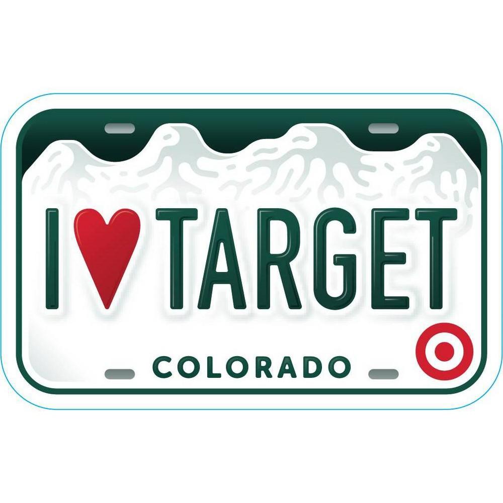 Colorado License Plate Target Giftcard 25