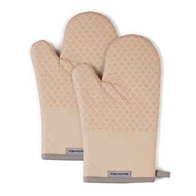 "KitchenAid 2pk 7""X12.5"" Asteroid Oven Mitts Beige"