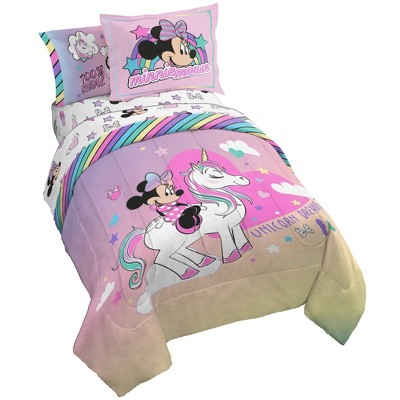 Full Minnie Mouse Unicorn Dreams Bed in a Bag