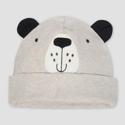 ede341e2c82 Gerber® Baby Boys  5pk Caps Bear - Gray Oatmeal 0 6M   Target