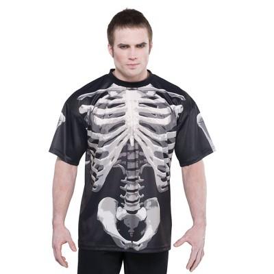 Adult Bone & Black Halloween Costume T-Shirt - XL