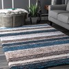 Striped Shaggy Woven Rug - nuLoom - image 2 of 2