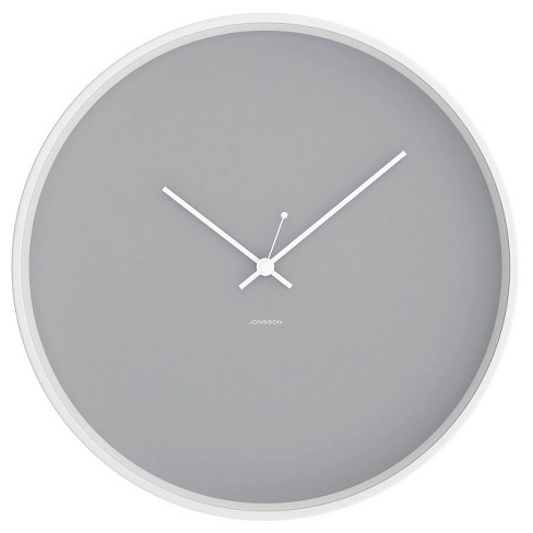 "12"" Round Wall Clock Gray/White - JONSSON Timeware® - image 1 of 2"