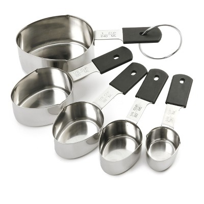 Grip-EZ Set of 5 Stainless Steel Measuring Cups
