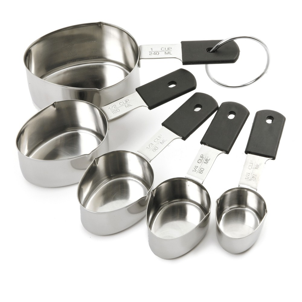 Image of Grip-EZ Set of 5 Stainless Steel Measuring Cups