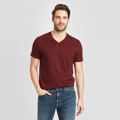 Men's Standard Fit Short Sleeve Lyndale V-Neck T-Shirt - Goodfellow & Co™