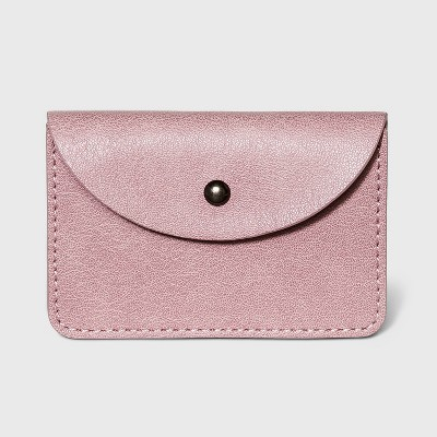 Snap Closure Vertical Card Case - Universal Thread™ Dusty Rose