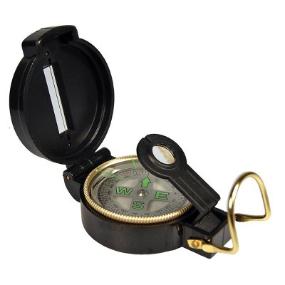UST Heritage Folding Lensatic Compass with Liquid Interior and Precision Alignment