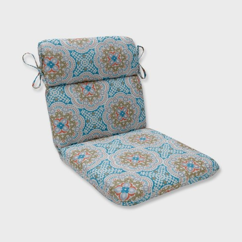 Astrid Rounded Corners Outdoor Chair Cushion Aqua Target