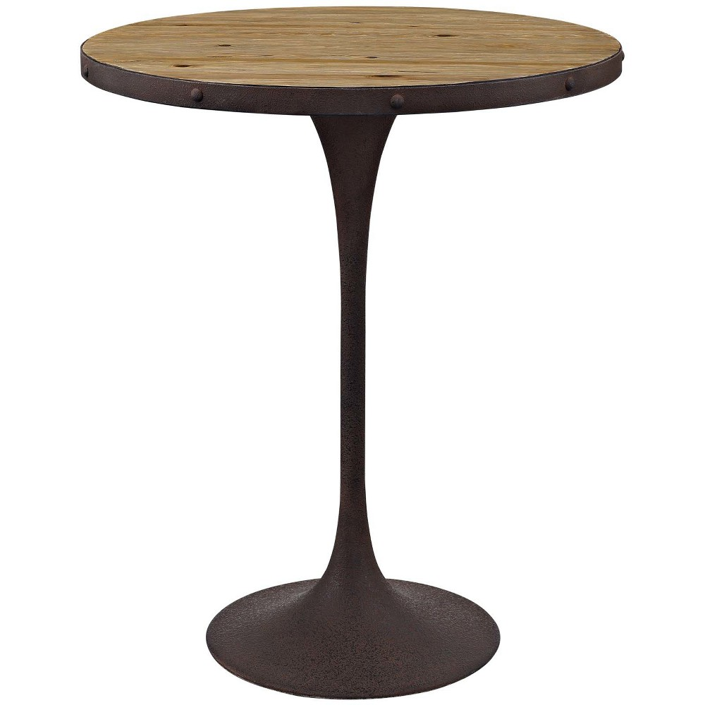 Drive Wood Bar Table Brown - Modway