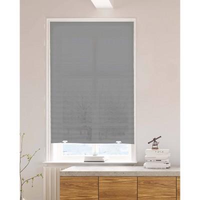 "36""x72"" Pleated Light Filtering Fabric Shades Gray - Lumi"