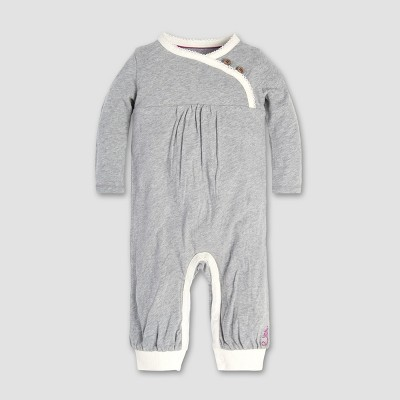 Burt's Bees Baby® Baby Girls' Wrap Front Coverall - Heather Gray 3-6M