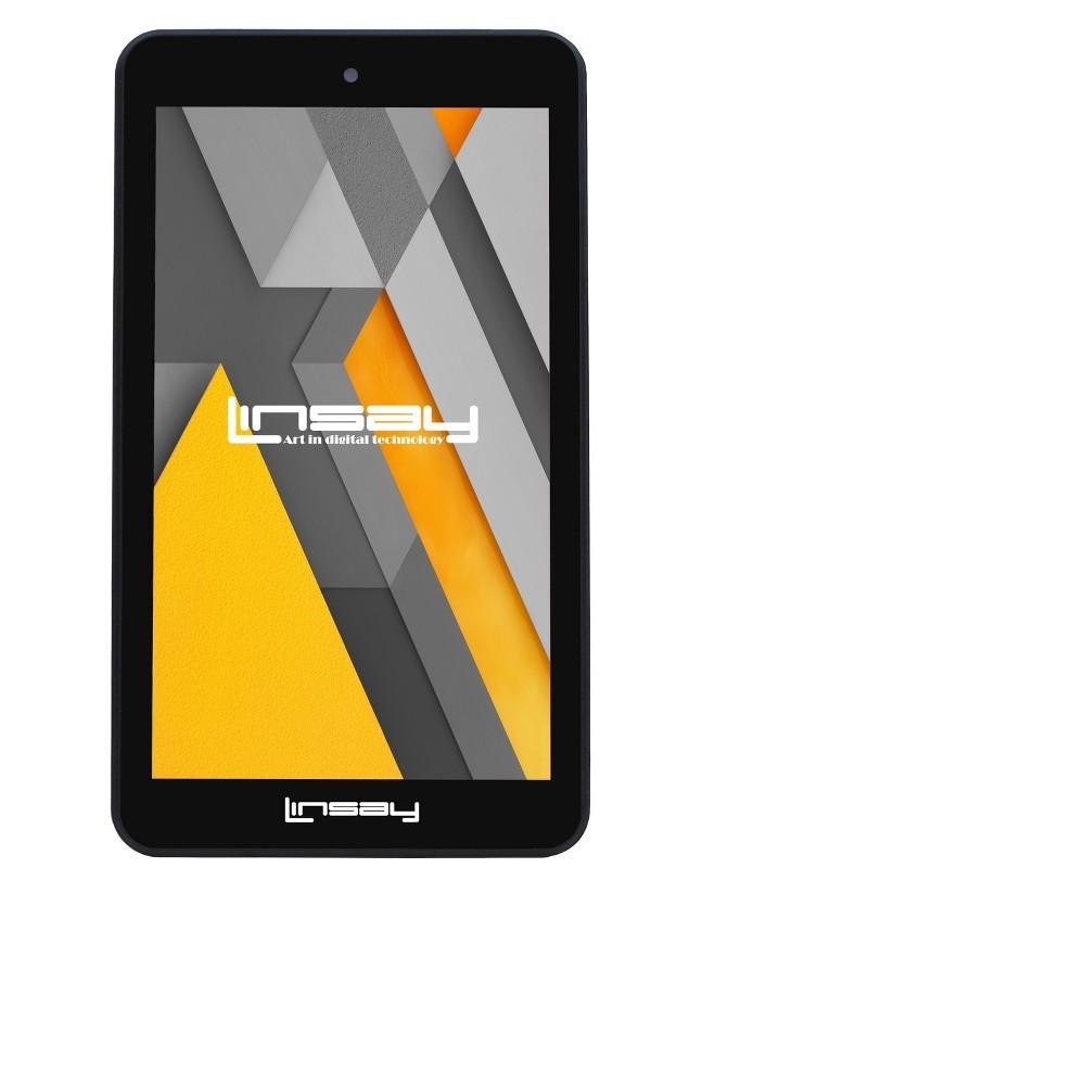 Linsay 7 HD Tab Quad Core Android Tablet Dual Camera, Black