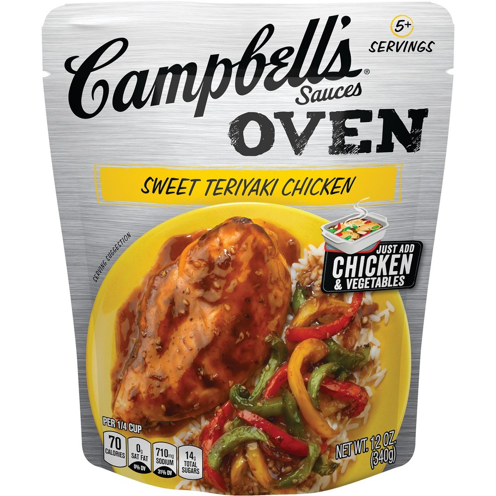 Campbell's Oven Sauces Sweet Teriyaki Chicken12 oz