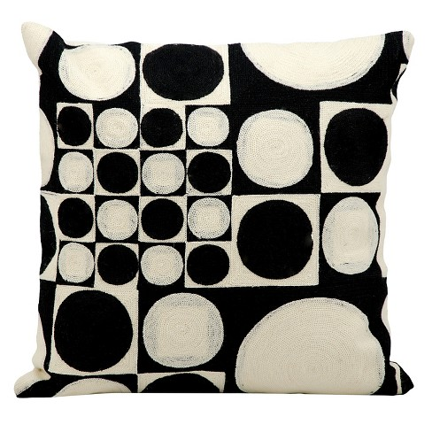 "Black/Ivory Lucky Dice Throw Pillow (18""x18"") - Nourison - image 1 of 1"