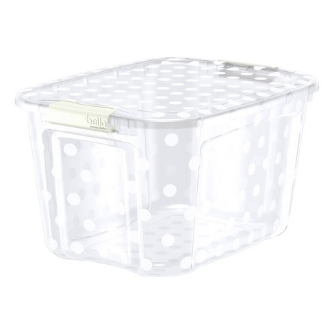 40qt Decorative Tote with Locking Lid Clear - Bella Storage - image 1 of 1