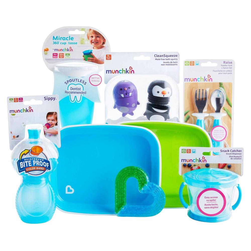 Image of Munchkin 1st Birthday Baby Gift Basket - Blue