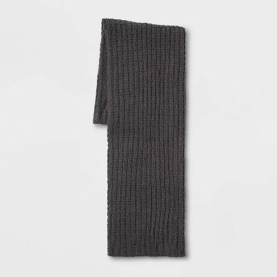 Solid Chenille Throw Blanket Dark Gray - Threshold™