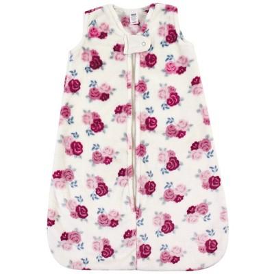Hudson Baby Unisex Baby Plush Sleeping Bag Sack Blanket - Floral 6-12M